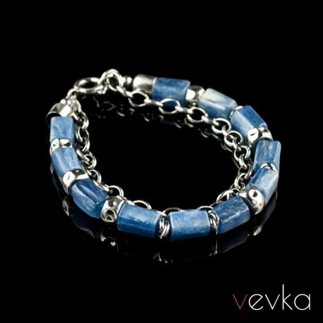 """Bransoletka z kyanitem """"Blue Jasmine""""VI"""