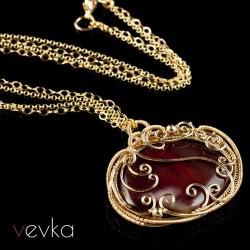 """Wisior z gold-filled """"Godzina pąsowej róży""""II"""