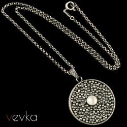 """Wisior z kamieniem księżycowym """"Księżyc Jowisza""""IV"""
