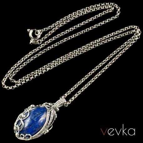 """Wisior z lapisem lazuli """"Lucy""""II"""