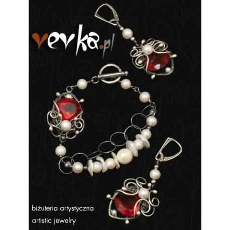 """Komplet biżuterii z pereł """"Lady Jane"""""""