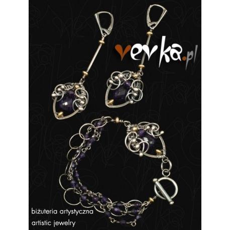 "Komplet biżuterii ""Purple Violets"""