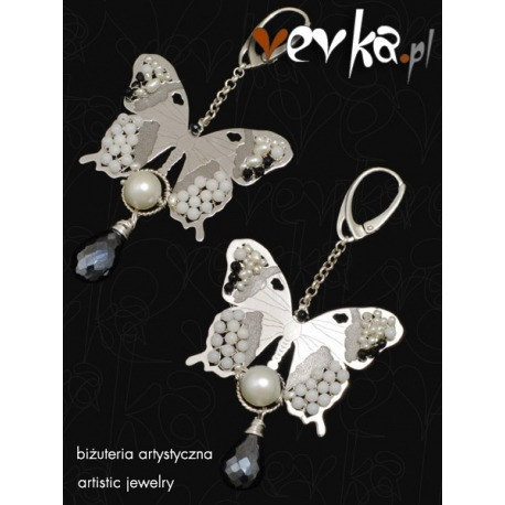 """Kolczyki z pereł """"Czas motyli"""""""