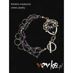 "Bransoletka ""Purple Violets"""