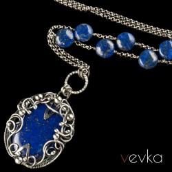 """Wisior z lapisem lazuli """"Westworld"""""""