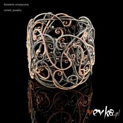 "Bransoleta z gold-filled ""Labirynt"""