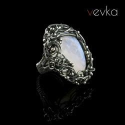 """Pierścień z kamieniem księżycowym """"Księżycowe obietnice"""""""
