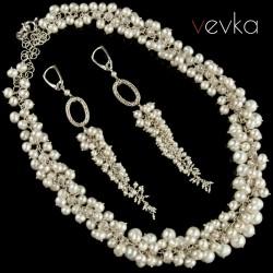 """Komplet biżuterii z pereł """"Anioł przy moim stole"""""""
