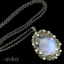 """Wisior z kamieniem księżycowym """"Księżycowe obietnice""""V"""