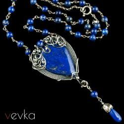 """Wisior z lapisem lazuli """"Iris"""""""