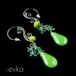"""Kolczyki z jadeitem """"Eliksir miłości""""VIII"""