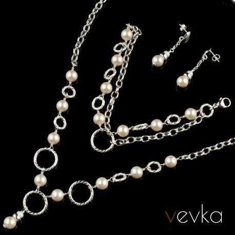 """Komplet biżuterii z pereł """"Nikita"""""""